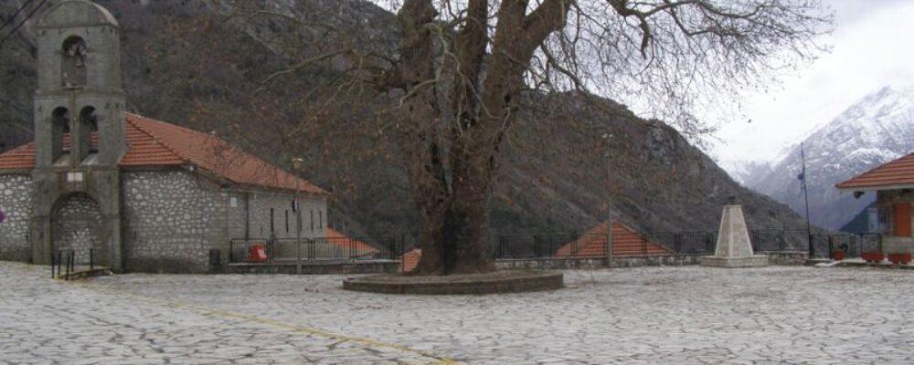 Εικόνες από το χειμωνιάτικο χωριό.