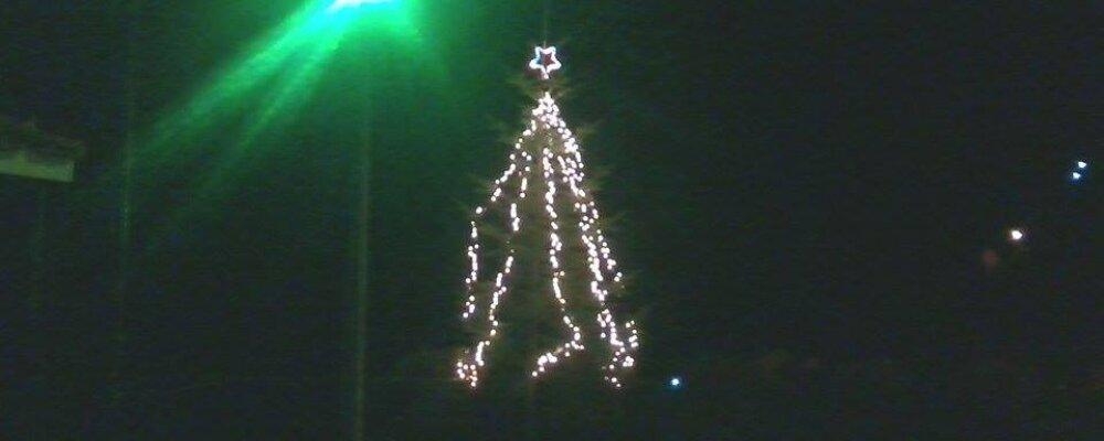 Το Χριστουγεννιάτικο δέντρο στα Θεοδώριανα.