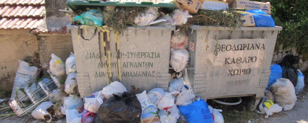 Πρόβλημα με τα σκουπίδια στα Θεοδώριανα.