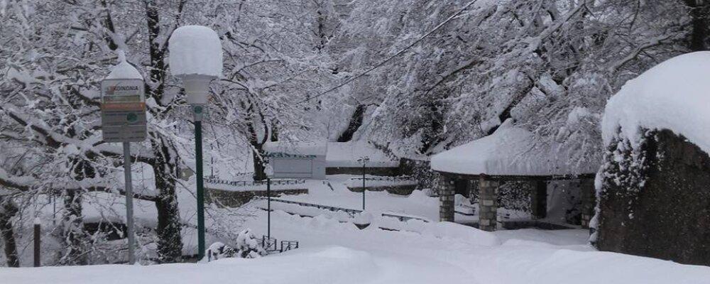 Με αμείωτη ένταση συνεχίζεται η χιονόπτωση στα Θεοδώριανα.