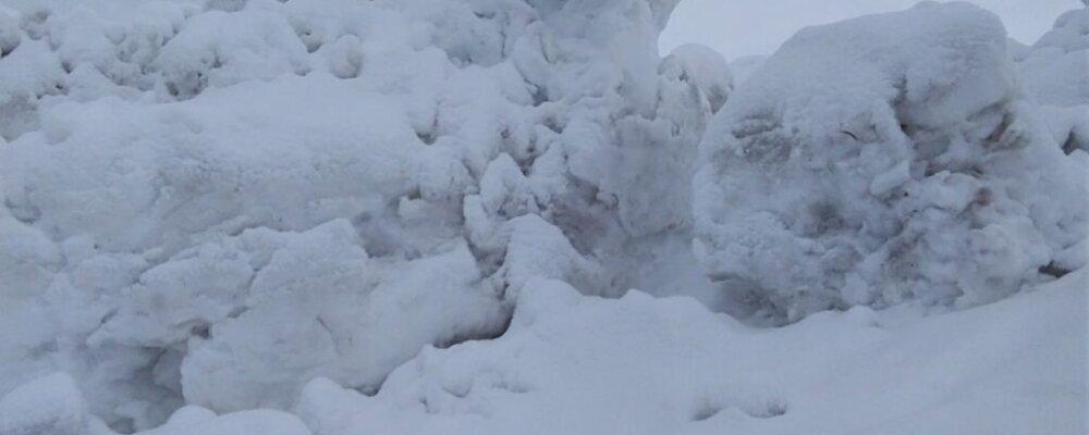 Γλυπτά στο χιόνι.